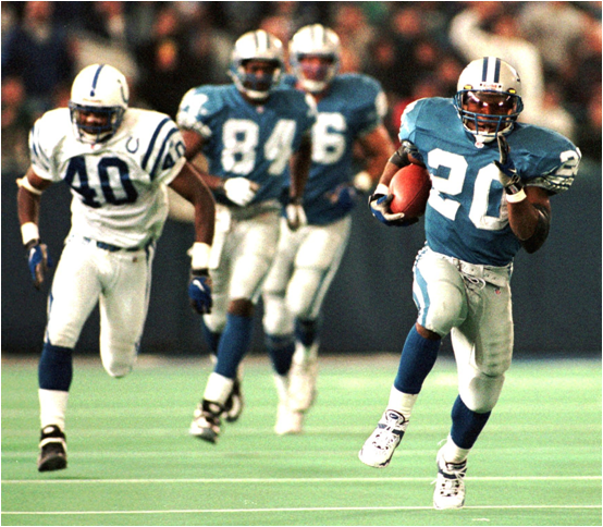Barry Sanders Busting Out On Another One Of Those Long Touchdown Runs