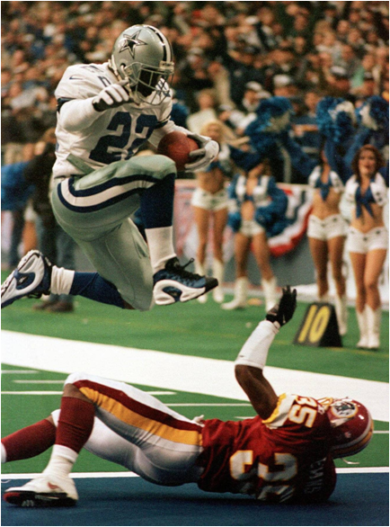 Emmitt Smith Stomped Into The End Zone On Monday Nights More Than Anybody Else