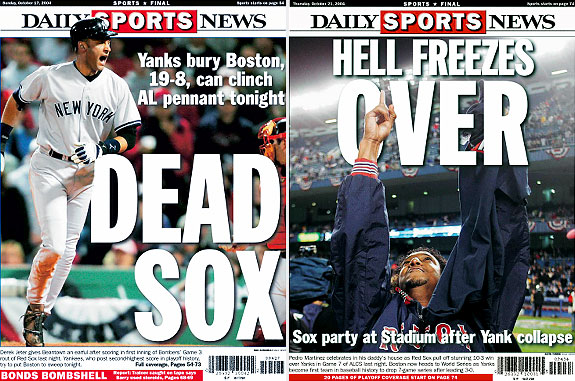 In 2004, The New York Yankees Won Game 3 Of The ALCS 19-8 To Take A 3-0 Lead, But The Boston Red Sox Won The Next Four Games