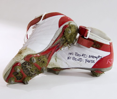 Larry Johnson's Actual Cleats From His 2006 Record-Setting Game