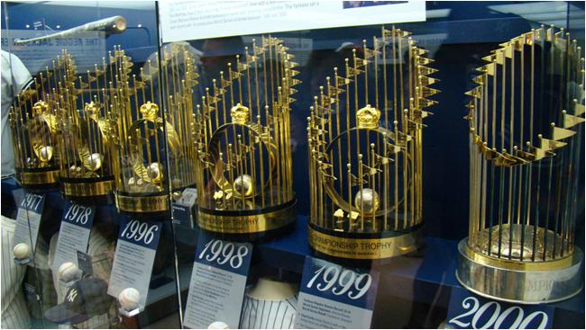New York Yankees World Series Trophies