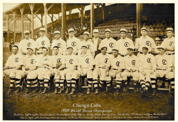 The 1908 World Champion Chicago Cubs