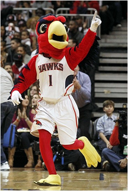 Atlanta Hawks Mascot Harry The Hawk