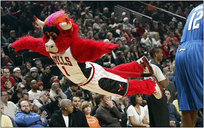 Chicago Bulls Mascot Benny The Bull