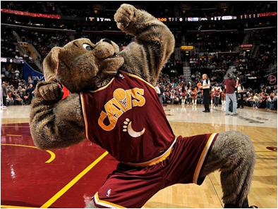 Cleveland Cavaliers Mascot Moondog