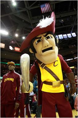Cleveland Cavaliers Mascot Sir CC