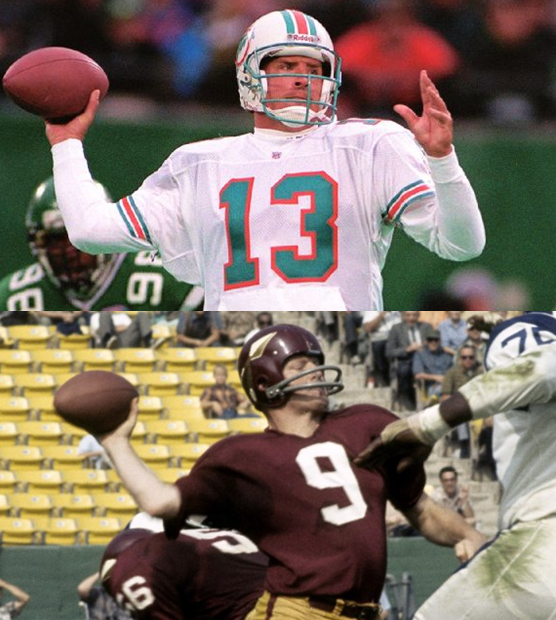 Dan Marino And Sonny Jurgensen Won Five Passing Titles