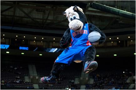 Detroit Pistons Mascot Hooper