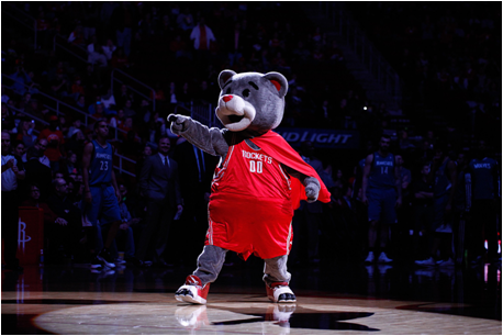 Houston Rockets Mascot Clutch The Bear