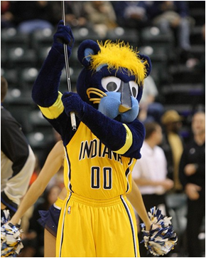 Indiana Pacers Mascot Boomer The Panther