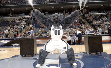 Memphis Grizzlies Mascot Grizz