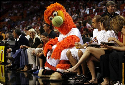 Miami Heat Mascot Burnie