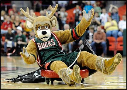 Milwaukee Bucks Mascot Bango The Buck