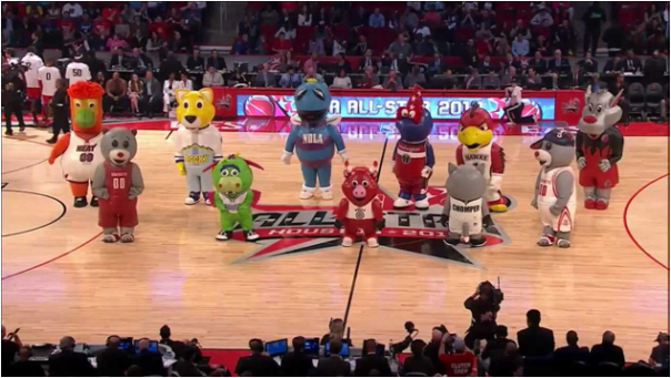 NBA Mascots At The 2013 NBA All-Star Game
