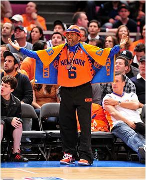 New York Knicks Unofficial Mascot Spike Lee