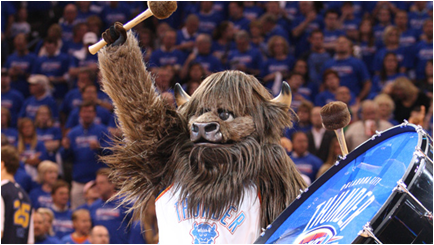 Oklahoma City Thunder Mascot Rumble The Bison