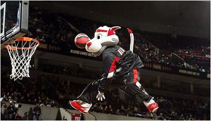 Portland Trail Blazers Mascot Blaze The Cat