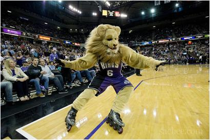 Sacramento Kings Mascot Slamson The Lion