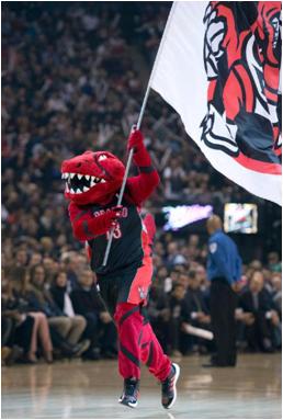 Toronto Raptors Mascot Stripes The Raptor