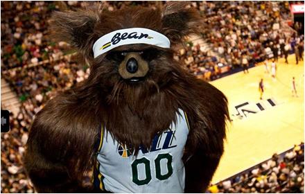 Utah Jazz Mascot Jazz Bear