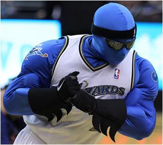 Washington Wizards Mascot G. Man