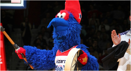 Washington Wizards Mascot G. Wiz
