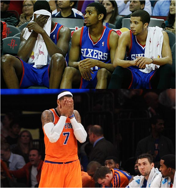 The 2014-15 Philadelphia 76ers And New York Knicks Might Make Some (Not So Good) History