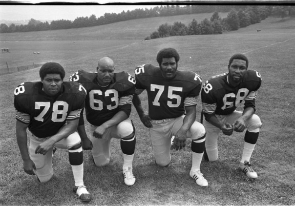 The Steel Curtain: Dwight White, Ernie Holmes, Mean Joe Greene And L.C. Greenwood