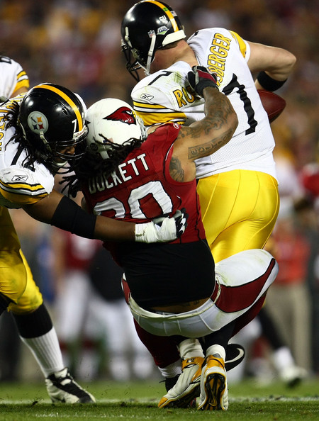 Darnell Dockett Sacks Ben Roethlisberger In Super Bowl XLIII