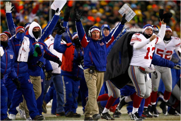 The New York Giants Win The 2007 NFC Conference Championship On Lawrence Tynes Overtime Field Goal...Over The Green Bay Packers