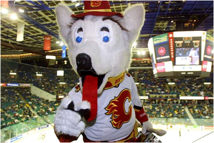 Calgary Flames Mascot Harvey The Hound