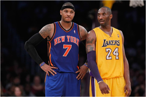 Carmelo Anthony And Kobe Bryant, Together Making $46M This Season, Steer Teams With A Combined Record Of 23-83 At The Midpoint Of 2014-15