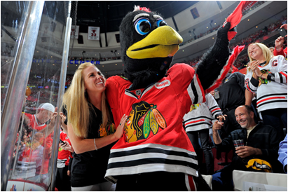 Chicago Blackhawks Mascot Tommy Hawk
