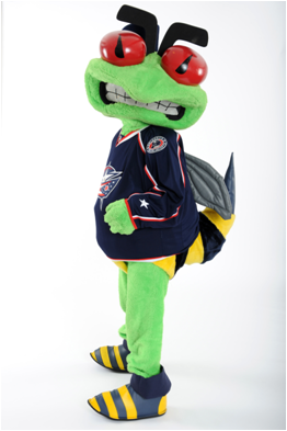 Columbus Blue Jackets Mascot Stinger
