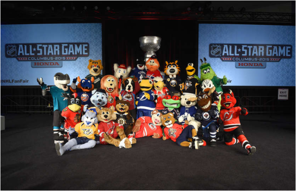 The 2014-15 NHL Team Mascots