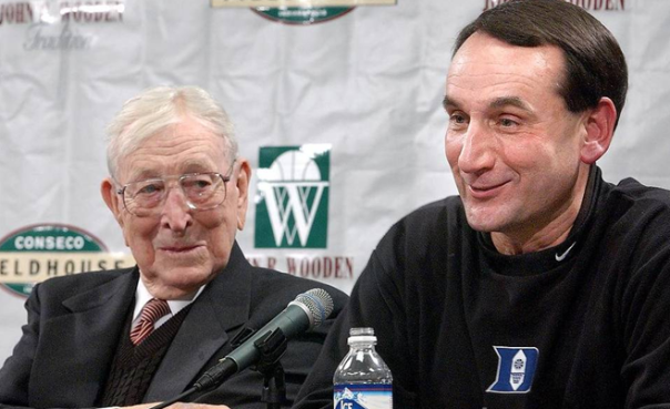 John Wooden And Mike Krzyzewski Have 12 Final Four Appearances, The Record For A Head Coach
