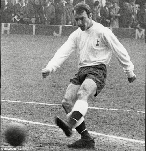 The Greatest Scorer In First Division English Football History, Jimmy Greaves, Here As A Member Of Tottenham