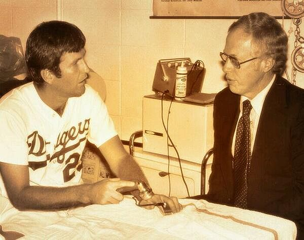Tommy John And His Surgeon Dr. Frank Jobe