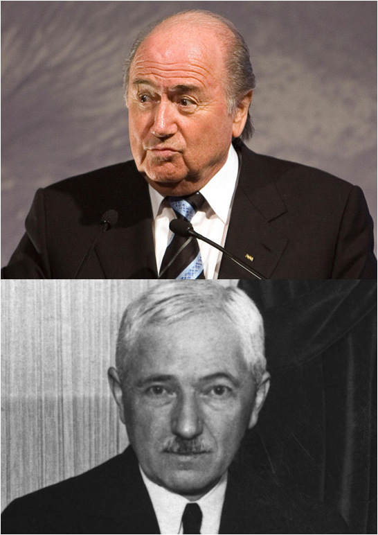 Sepp Blatter (t.) Was FIFA President For17 Years, But Jules Rimet (b.) For Nearly Twice As Many