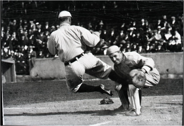 Ty Cobb Stealing Home With A Little Mustard