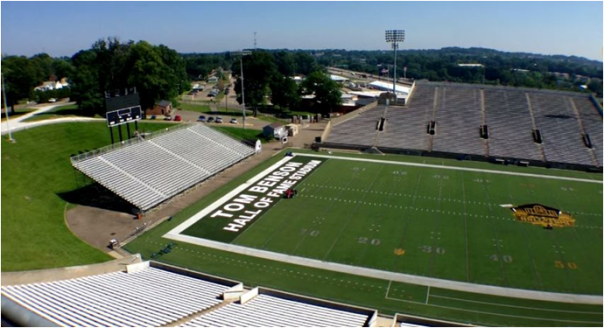Tom Benson Hall Of Fame Stadium In Canton, Ohio Where The Hall Of Fame Game Is Played